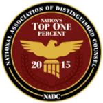 Nation's Top One Percent National Association of Distinguished Counsel Badge
